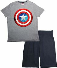 Marvel Avengers Mens Shield Short Sleeve Pyjamas Set