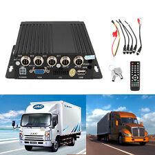 12V Car Bus HD 4CH DVR Realtime Video/Audio RV Mobile Recorder W/Remote