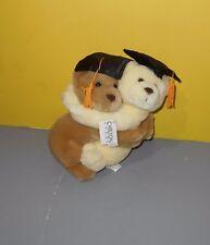 "Carlton Cards New 8"" Hugging Buddy Pair of Bear Graduates w/ Grad Mortarboard"