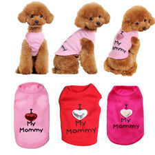 "Small Yorkie Dog Clothes Cotton T Shirt Cat Pet Clothing ""I LOVE MY MOMMY"""