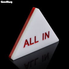 Big 85x72 mm 2 side Triangle Acrylic White Red ALL IN Button Dealer Poker Holdem