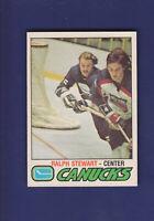 Ralph Stewart 1977-78 O-PEE-CHEE OPC Hockey #386 (EX) Vancouver Canucks