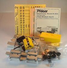 Preiser / Hetterich 1/87 Bausatz 2632 Faun Magirus Deutz FLF80/200 ungebaut #837