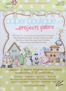 Polka Doodles Paper Boutique Projects Galore CD Rom Graphics Card Making Crafts