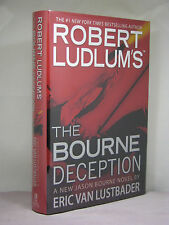 1st,signed by author, Robert Ludlum's The Bourne Deception by Eric Van Lustbader