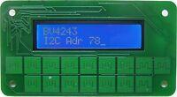 I2C Keypad Front Panel for Arduino, Raspberry Pi, Blue 16x2 LCD and 16 keypad
