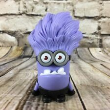 "Despicable Me 2 Evil Purple Minion 3.75"" Tall McDonald's Happy Meal Figure"