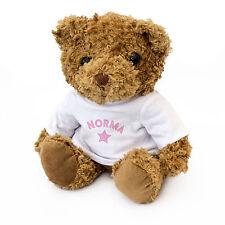 NEW - NORMA - Teddy Bear - Cute And Cuddly - Gift Present Birthday Xmas