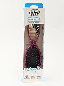 Wet Brush Pop & Go Detangler Hair Brush With Mirror Pink Intelliflex On The Go