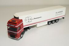 A3 1:50 LION TOYS DAF 95 XF 95XF P.G. KORVER RENSWOUDE TRUCK + TRAILER N MINT