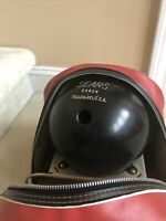 Vintage sears 12.5 Lbs Bowling Ball Pre-drilled Black With Red And White Bag