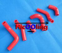 FOR HUSQVARNA TE400 TE450 TE510 2002-2008 SILICONE RADIATOR HOSE KIT RED