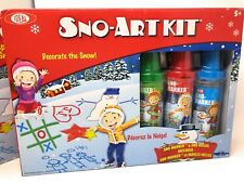 (2) Sno Art Kit Red Green Blue Snow Paint Snowman Star Molds Ideal Poof-Slinky