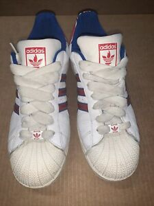 RARE! Adidas Super Star Olympics GBR - Men Sz 10 - Red, White & Blue - Pre-owned
