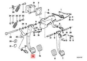 Genuine BMW CMSP E28 E30 Cabrio Coupe Sedan Clutch Pedal OEM 35311154737