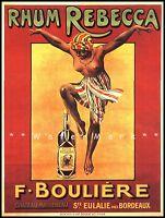 Rhum Rebecca 1913 Bordeaux France Vintage Poster Print Retro Liquor Advertising