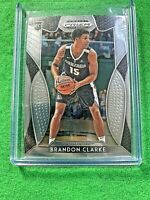 BRANDON CLARKE SILVER CHROME ROOKIE CARD JERSEY#15 GRIZZLIES RC 2019 Prizm DP