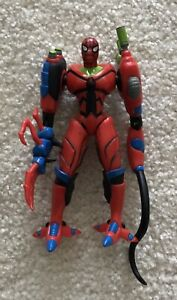 Spider-Man In Armor With Whip Hand Action Figure (1997 Toy Biz)