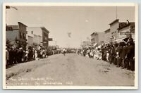 Baudette MN~July 4th Celebration~Main Street~Confectionery~Rex Hotel~1915 RPPC
