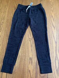 OLD NAVY Girls Black Plush Leggings Sweatpants L (10-12) NWT