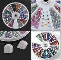 3600pcs Nail Art Rhinestones Glitter Decoration 3D Tips Diamond Gem Wheel HH