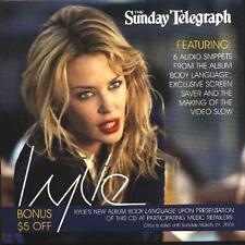 Kylie Minogue RARE AUSSIE PROMO ONLY NEWSPAPER CD W/- AUDIO,VIDEO & SCREEN SAVER