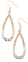 Paparazzi Earrings - Dripping In Diamonds - Gold