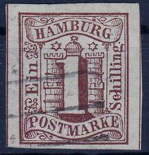 == AD Hamburg Mi. 2 Vierstrichstempel, gepr. BPP, Kat. 120€ ==