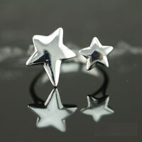 925 Solid Sterling Silver Plated Women/Men NEW Fashion Ring Gift SIZE OPEN HJ193