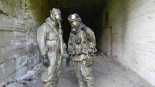 gas mask + modern filter + BUNDESWERH ZODIAK hevy duty NBC HAZMAT RadIATION suit