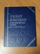 More details for full whitman folder brass threepence coin collection album, 1937-date (48 coins)