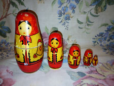 Vintage Set of Russian Nesting Dolls
