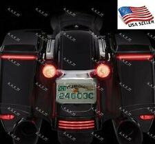 Harley Davidson Low Profile Rear LED Saddlebag Lights for 14-20 Harley Touring