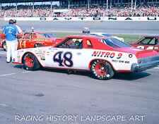 1975 DAYTONA 400 8x10 PHOTO NASCAR #48 JAMES HYLTON CHEVROLET NITRO 9 RACE CAR