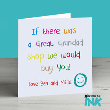 Personalised Great Grandad Birthday Card - Fathers Day card for pops