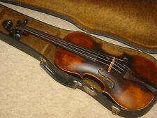 Interesting, very old 4/4 Violin violon with unreadable label