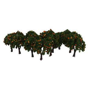 Lot 20 Orange Fruits Tree Model Train Farm Orchard Diorama Scenery Z 1/300