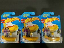 Hot Wheels Lot of 3 The Yellow Submarine Beatles 2020 N Case Treasure Hunt 1/64