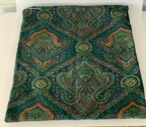 2 Accent Pillow Covers World Market Green Paisley 20x20