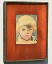 """PABLO PICASSO GRAPHIC WORK """"PORTRAIT OF PAUL PICASSO AS A CHILD"""" PRINT ON WOOD"""