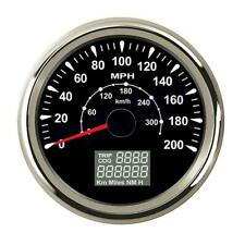85mm GPS speedometers 8 Colors Backlight 0-200MPH 300km/h LCD speed odometers US