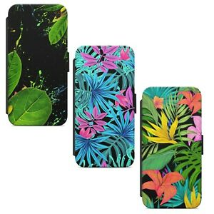 Tropical Flowers Palms Leafs Floral WALLET FLIP PHONE CASE COVER