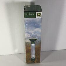 """John Deere Garden Thermometer Solar lighted 24"""" w spike"""