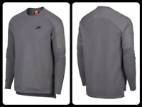 $180 NIKE SPORTSWEAR TECH KNIT Gray LS Shirt MEN'S Size MD LG XL 886177 036 NWT