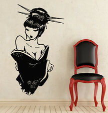Wall Vinyl Decal Japanese Girl Geisha Sticker Decals Bedroom Decor NS366