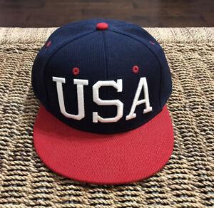 OC SPORTS Men's USA Baseball Hat Cap SzM/L NEW Q3 United States Of America 🇺🇸