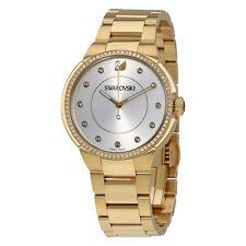 Swarovski City Silver Dial Yellow Gold-tone Ladies Watch 5213729