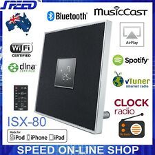 Yamaha ISX-80 MusicCast Bluetooth AirPlay Clock Radio Speaker Black - EX-DISPLAY