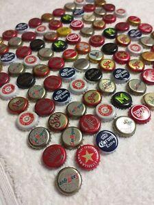 100 x Beer Bottle Tops Caps