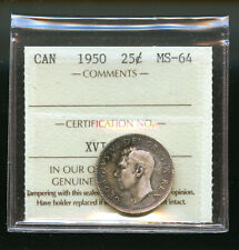 1950 Canada 25 Cents ICCS Certified MS64 DCB158